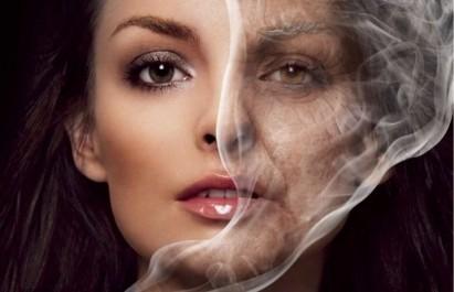 cigarrillo y piel